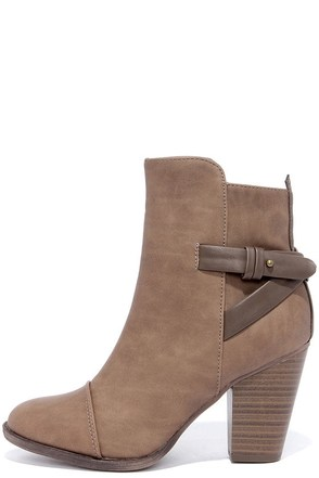 Swoon Walker Beige High Heel Ankle Boots at Lulus.com!