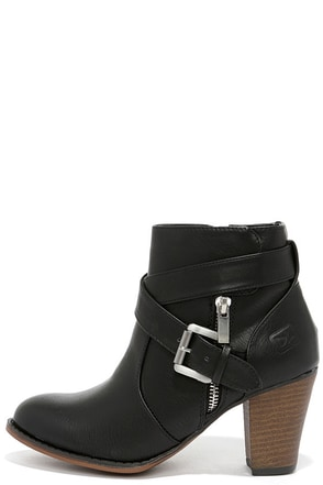 Dirty Laundry Dallas Black Burnished High Heel Ankle Boots at Lulus.com!