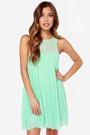 Pleat Street Fair Mint Green Dress at Lulus.com!