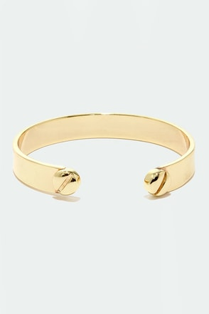 Turn of the Screwdriver Gold Bracelet