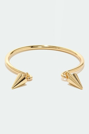 Spiked Punch Gold Bracelet