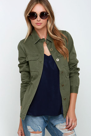 Rhythm Revolution Olive Green Jacket at Lulus.com!