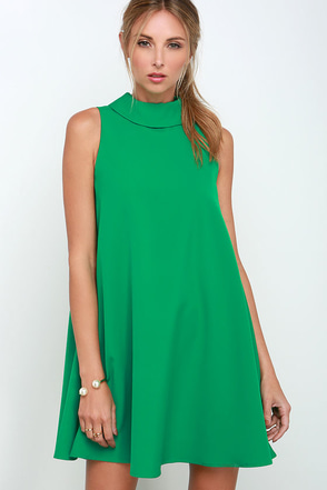 Mod Maven Coral Red Swing Dress at Lulus.com!
