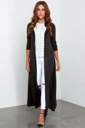 Amazing Graze Long Heather Black Sweater at Lulus.com!