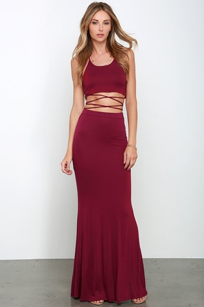 Fair to Slay Black Two-Piece Maxi Dress at Lulus.com!