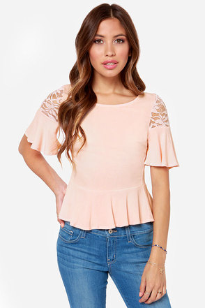 Thrill of the Lace Blush Lace Top
