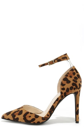 Starlet Power Leopard Suede Ankle Strap Pumps at Lulus.com!