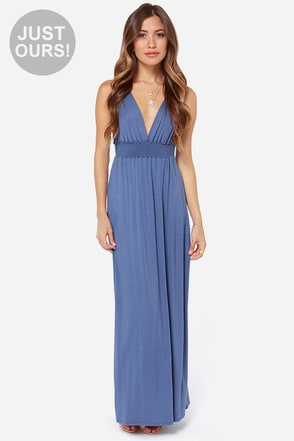 LULUS Exclusive At Great Length Dusty Purple Maxi Dress