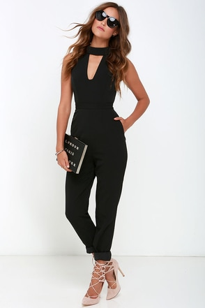 Finders Keepers Divine Eternal Black Jumpsuit at Lulus.com!