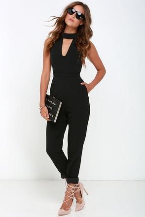 Finders Keepers Divine Eternal Black Jumpsuit at Lulus.com!
