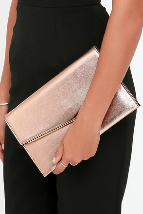 Starlit Sky Rose Gold Clutch at Lulus.com!