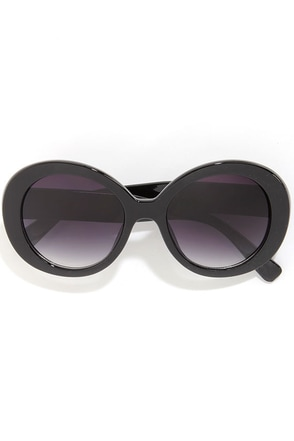 Make the Rounds Black Sunglasses