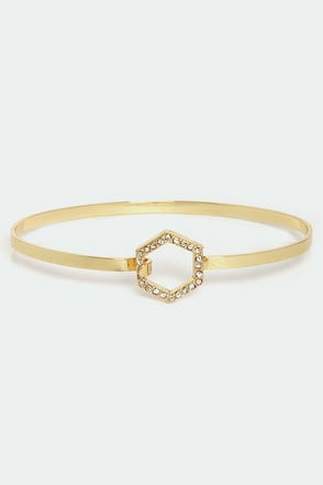 Hexagon for Good Gold Rhinestone Bracelet