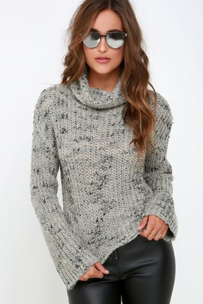 Obey Alexa Black and Grey Cropped Sweater at Lulus.com!