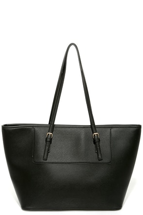 Out of Towner Black Tote at Lulus.com!
