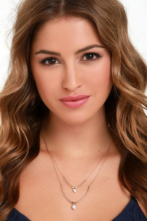 All in Love Gold Rhinestone Layered Necklace at Lulus.com!