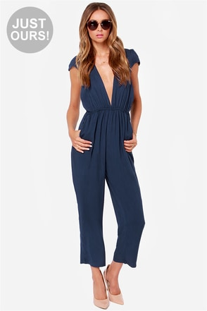 LULUS Exclusive Follow Suit Black Jumpsuit