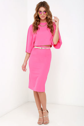 World Wonder Pink Two-Piece Dress at Lulus.com!