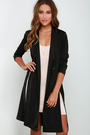Carry a Motion Black Coat at Lulus.com!