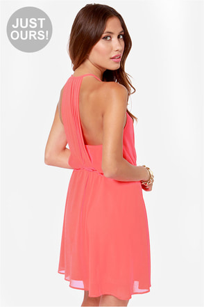 LULUS Exclusive Start Something Neon Pink Dress