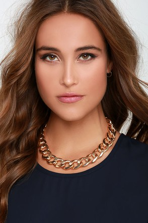 Chicest Link Gold Chain Necklace at Lulus.com!