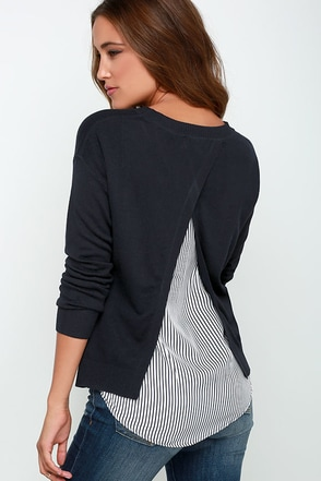 Sailor Swoon Midnight Blue Sweater Top at Lulus.com!