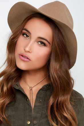 Rhythm The Pocket Camel Fedora Hat at Lulus.com!