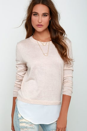 Made My Day Grey Sweater Top at Lulus.com!