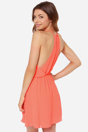 Lava-Va Voom Neon Orange Dress