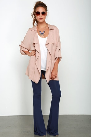 How We Do Dusty Purple Flare Leggings at Lulus.com!