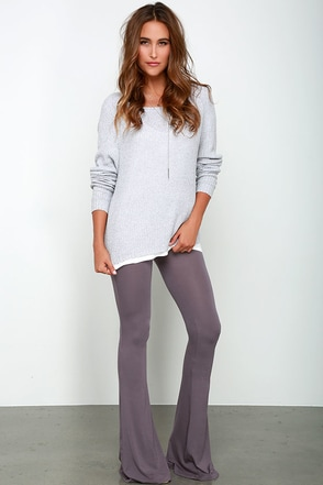 How We Do Navy Blue Flare Leggings at Lulus.com!