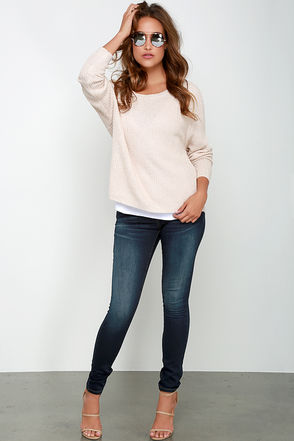 Blank NYC Skinny Classique Midnight Blue Skinny Jeans at Lulus.com!