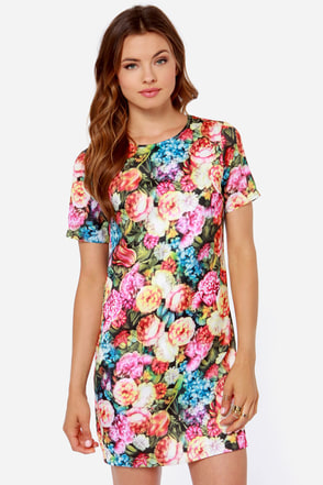 Poppy Lux Esme Floral Print Shift Dress