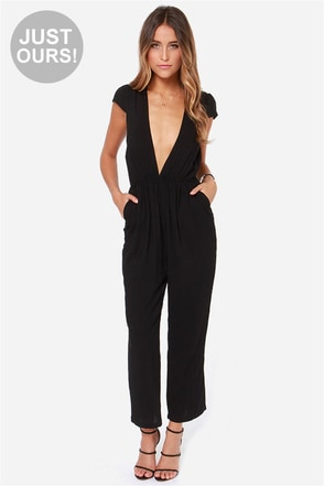 LULUS Exclusive Follow Suit Navy Blue Jumpsuit