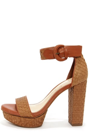Jessica Simpson Kaelani Light Luggage Woven High Heel Sandals