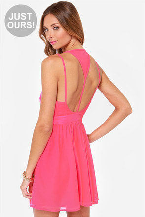 LULUS Exclusive L.A. Lady Hot Pink Dress