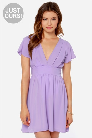 LULUS Exclusive Whatever You Sway Lavender Dress