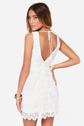 Top to Blossom Ivory Lace Dress