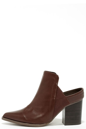 Street Chic Brown Pointed Toe Mules at Lulus.com!