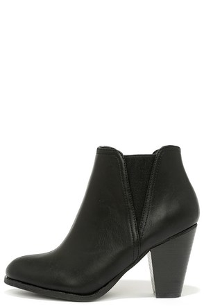 Basic Babe Black High Heel Booties at Lulus.com!