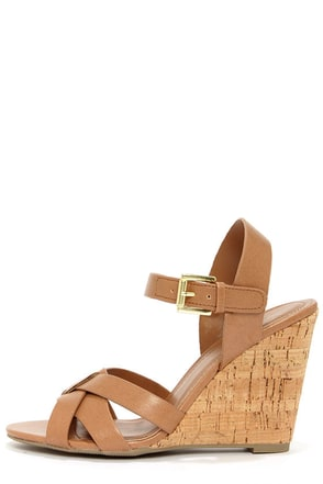 My Delicious Visola Blond Wedge Sandals
