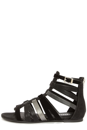 Soda Moore Black Multi Gladiator Sandals
