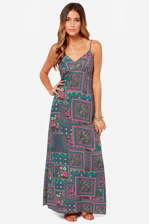 Lucy Love Love Letters Grey Print Maxi Dress