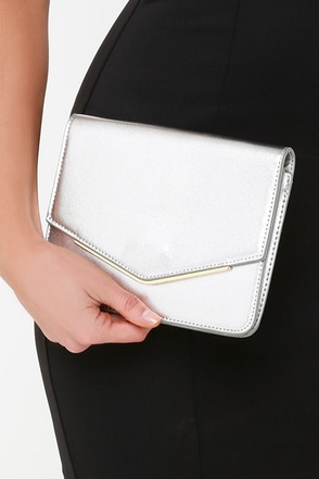 Seal Your Fate Silver Clutch at Lulus.com!
