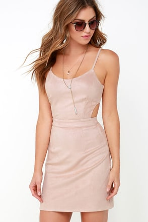 Talent and Skill Beige Suede Dress at Lulus.com!