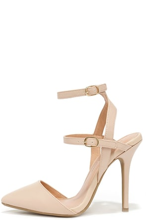 Got It Made Natural Ankle Strap Pumps at Lulus.com!