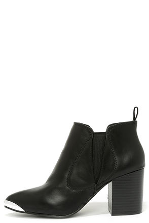 Tipping Point Black High Heel Booties at Lulus.com!