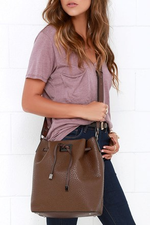 Drifting Away Brown Bucket Bag at Lulus.com!