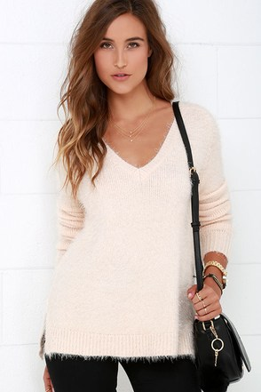 Gentle Fawn Alpine Pale Blush V Neck Sweater at Lulus.com!