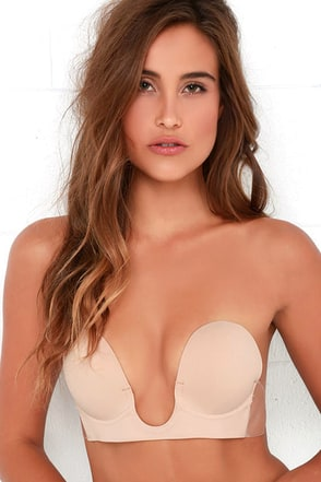U Plunge Nude Backless Strapless Bra at Lulus.com!